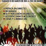 FIESTA CONSCIENTE EN MADRID (Sábado 9 de marzo de 19:00h A 23:30h en Discoteca YASTA, Gran Vía)